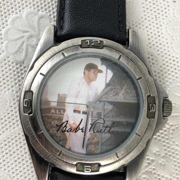 Vintage Babe Ruth Baseball Watch by Game Time